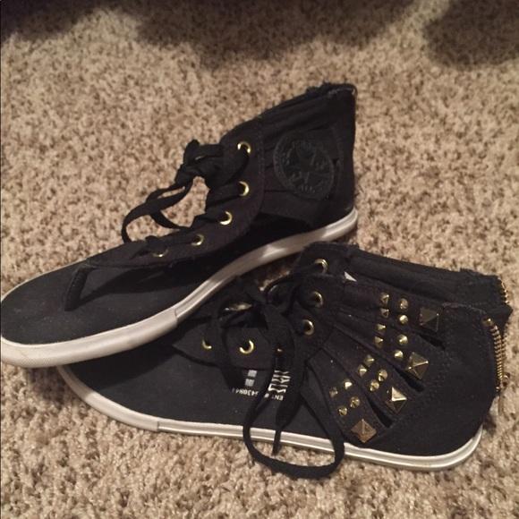 converse gladiator sandals black
